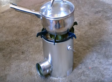 Complete rocket stove