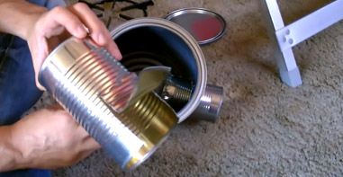 Fold up middle tin