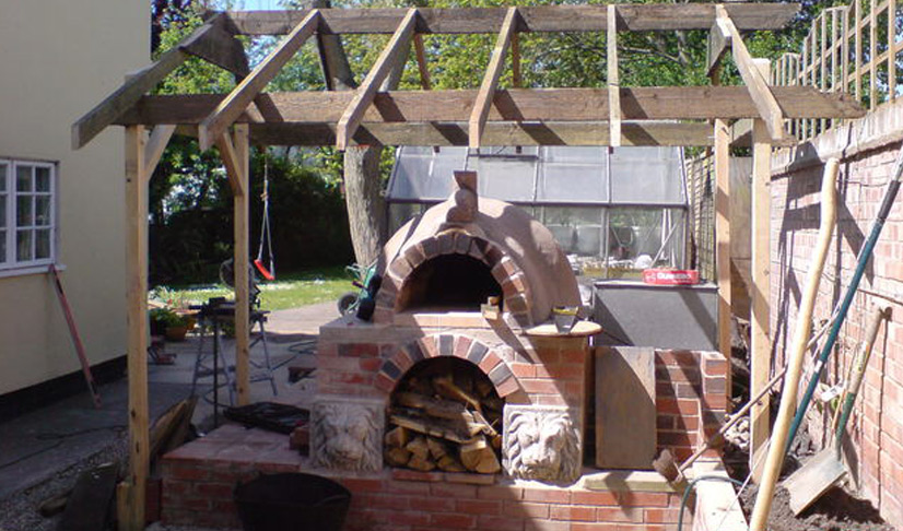 how to build a pizza oven in the garden