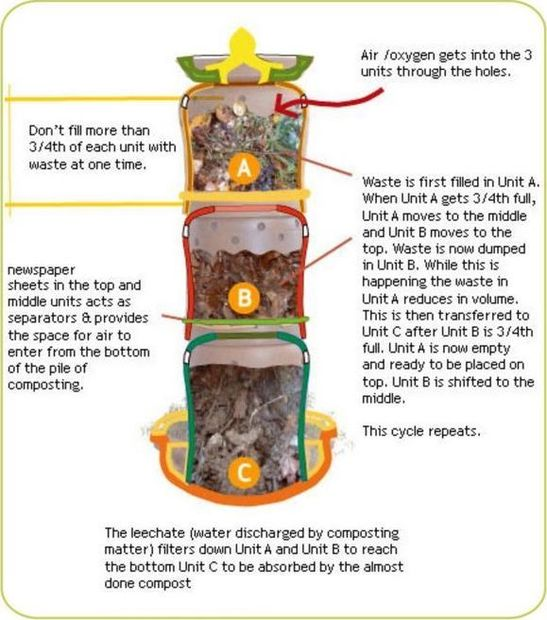 Compost bin infographic